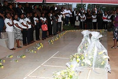Rwanda mass grave